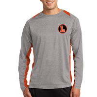 LH - Long Sleeve Heather Colorblock Contender ™ Tee Thumbnail